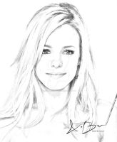 Rachel McAdams Sketch by DieselBarracuda