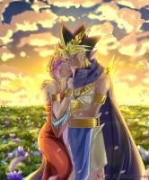 COM - Nailah and Atem by AliceKuroCross