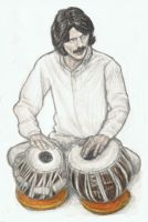 George Harrison on tabla by gagambo