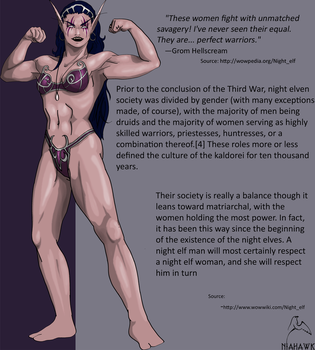 Muscular Nightelf woman by Niahawk