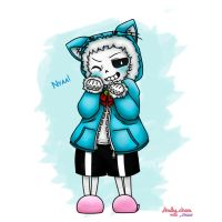 Undertale - Sans the Cat! by Andy-chanWantToDraw