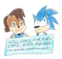 Sonic and Sally - WILL WORK FOR ANOTHER COMIC CO. by dth1971