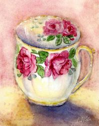 Antique Teacup by happytimer
