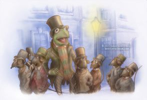 Muppets: ''One More Sleep 'Til Christmas'' by sketchykraft