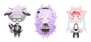 { ADOPT CLOSED } Pastel Goth // Punk Babies by Valyriana