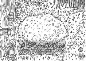 Faerie Circle (The Fantasy Colouring Book) by megcowley