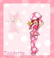 Toadette Anime Style by invaderscandal