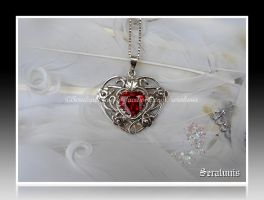 'Crystal heart' handmade sterling silver pendant by seralune