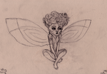 Sitting fairy by WhiteLedy