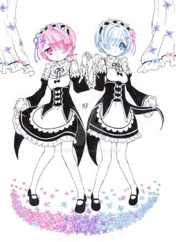 Ram and Rem by hinivaal