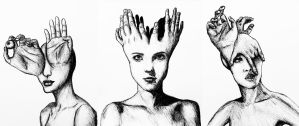 Queens of the act (triptych). by SzymonWajner