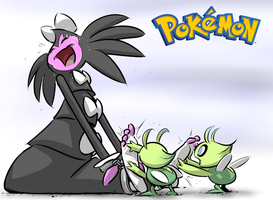 Gothitelle Tickled by Celebi