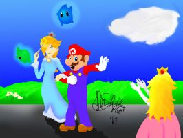 Mario x Rosalina by sonic-skywalker