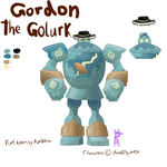 Gordon the Golurk Ref by RymNotrim