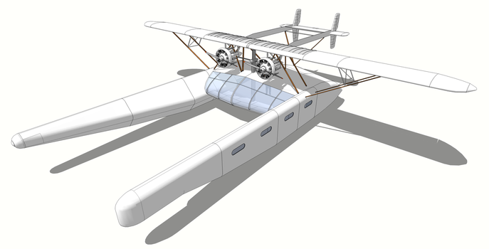 Flying yacht with observation deck by Aalex-le-deviant