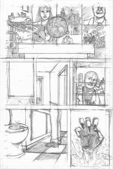 The Devil and The Detective page 2 Rough Pencils by JJ422