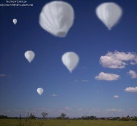 Cloudy Hot Air Balloons by DiG-IT21