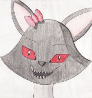 Dark cat or Darky with a devilish face by viviangelordevil