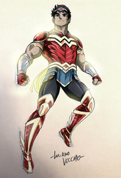 Wonder Boy - Armored Up by LucianoVecchio
