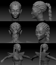 Litae - high poly sculpting - close up by sofoolkate