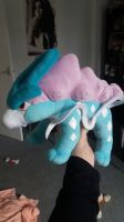 My Suicune Plush by ChelseaTheChihuahua