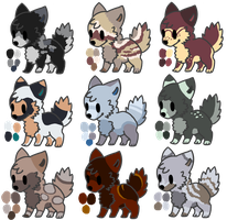 Wolves/Dogs Adoptables - closed by Lysonu---Adopts