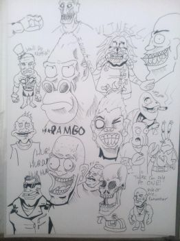 Sketch Dump 1 - Fucking Madness by ThePsychoticEnigma