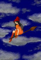 Princess on a Broomstick by Aelex