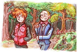 Spirou and Fantasio - Walk in the Woods by Raax-theIceWarrior