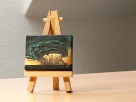 Storm clouds mini painting by RUGIDOart