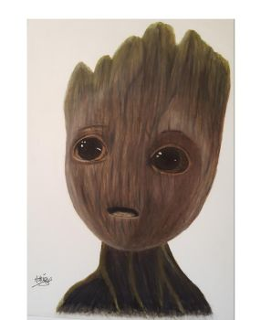 Baby Groot by AdrienBlanchard