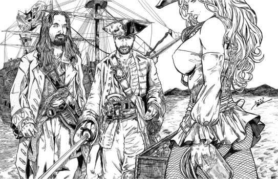 A Pirate's Life for me - Ink by i3i11theWi11