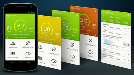 FatSecret Android App Redesign Concept by vertus-design-being