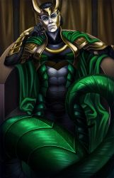 Serpent on the Throne by DigiAvalon