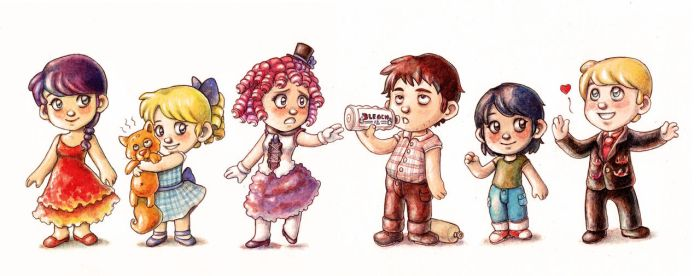 The Hunger Games Chibis by Gigei