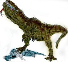 Hungry Giganotosaurus by Durbed