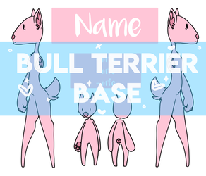 Bull Terrier Ref Sheet Base by MilkyKoneko