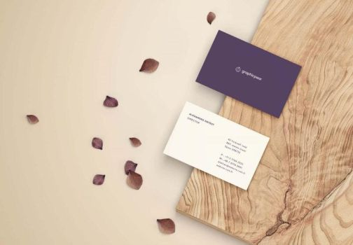 Free Front and Back Business Card Mockup (PSD) by Freebiedesign