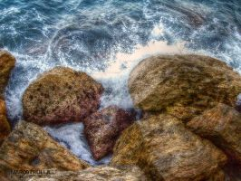 Rocks and  Splashes No. 1 by Ragnarokkr79