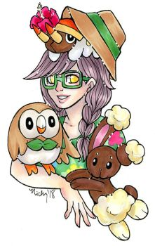 Trainer Leila and friends by nickyflamingo
