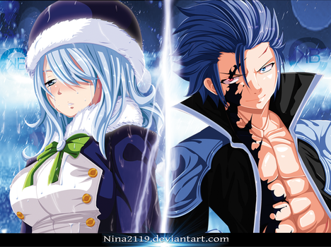Gruvia Sadness in the Dark Side Scan 423-424 by nina2119