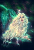 Mermaid and the Dragonflies by PerlaMarina