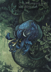 ACEO Bloom in the Shade by thedancingemu