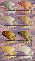 SandWing Adopt 2-26-17 [ALL SOLD] by xTheDragonRebornx