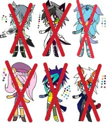 Mixed Adopts 7 (Closed) by CurlyishRacoon
