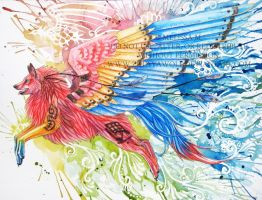 Colors of a Parrot by ZulayaWolf