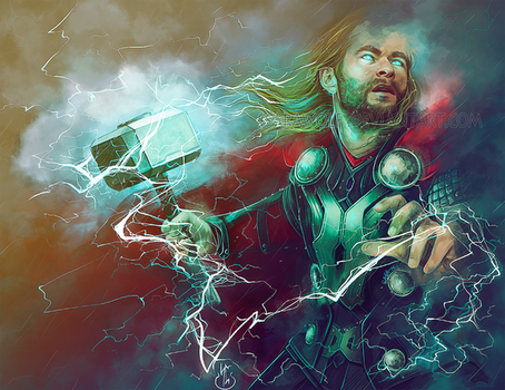 Almighty Thor by Ssarawolf