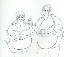 Obese Nami and Robin by dilios999