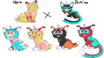 unicat breeding batch 2 (open 3/4) by skyfeather0066