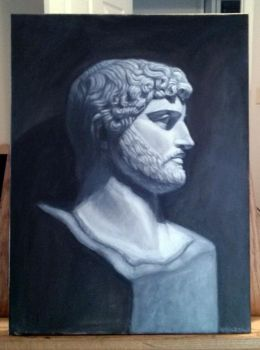 Hadrian Bust Oil Paint by mr-sinister2048